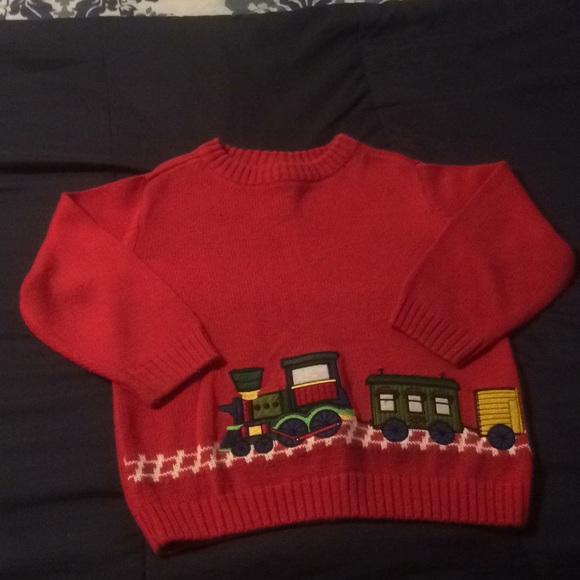 J. Khaki embroidered train sweater